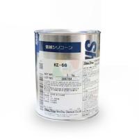 日本信越(ShinEtsu)KE66双组份RTV自粘型一般电气用灌封硅胶 1kg/罐
