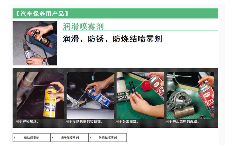 【汽车保养用产品】(润滑喷雾剂)