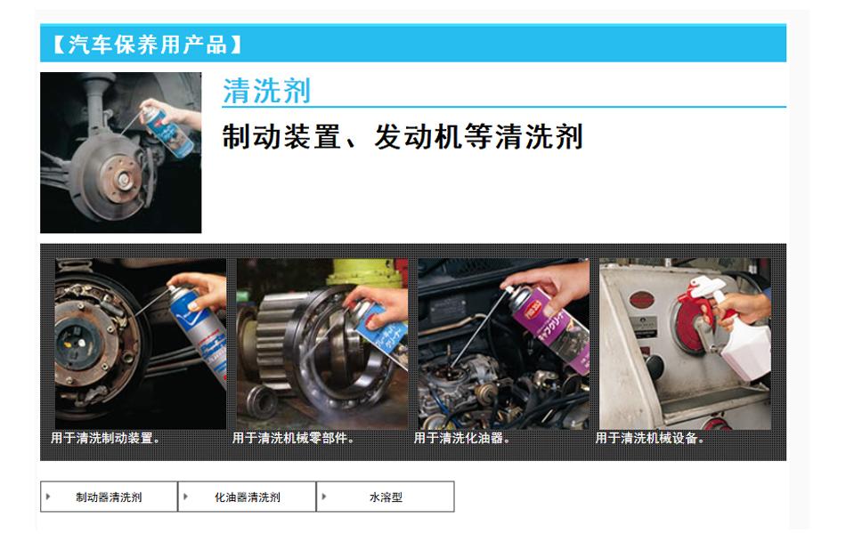 【汽车保养用产品】(清洗剂)