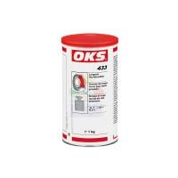 OKS 433锂基矿物油长效高压润滑脂 红棕色