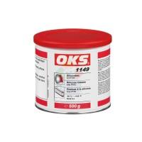 OKS1149锂复合基硅油含聚四氟乙烯PTFE硅脂较低温度启动轴承润滑脂 白色500G