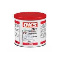 OKS1155锂基酯油高粘性硅油脂金属塑料弹性体润滑O 型圈 米色500g