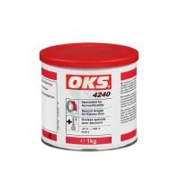 OKS 4240无机稠化全氟聚醚油PFPE模具导柱、顶针专用润滑脂 白色